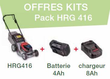 Akku-Rasenmäher HRG 416 XB Set