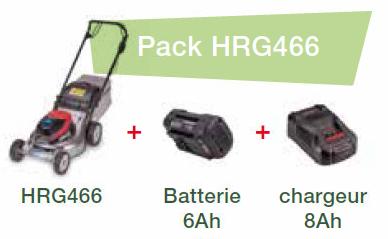 Akku-Rasenmäher HRG 466 XB Set